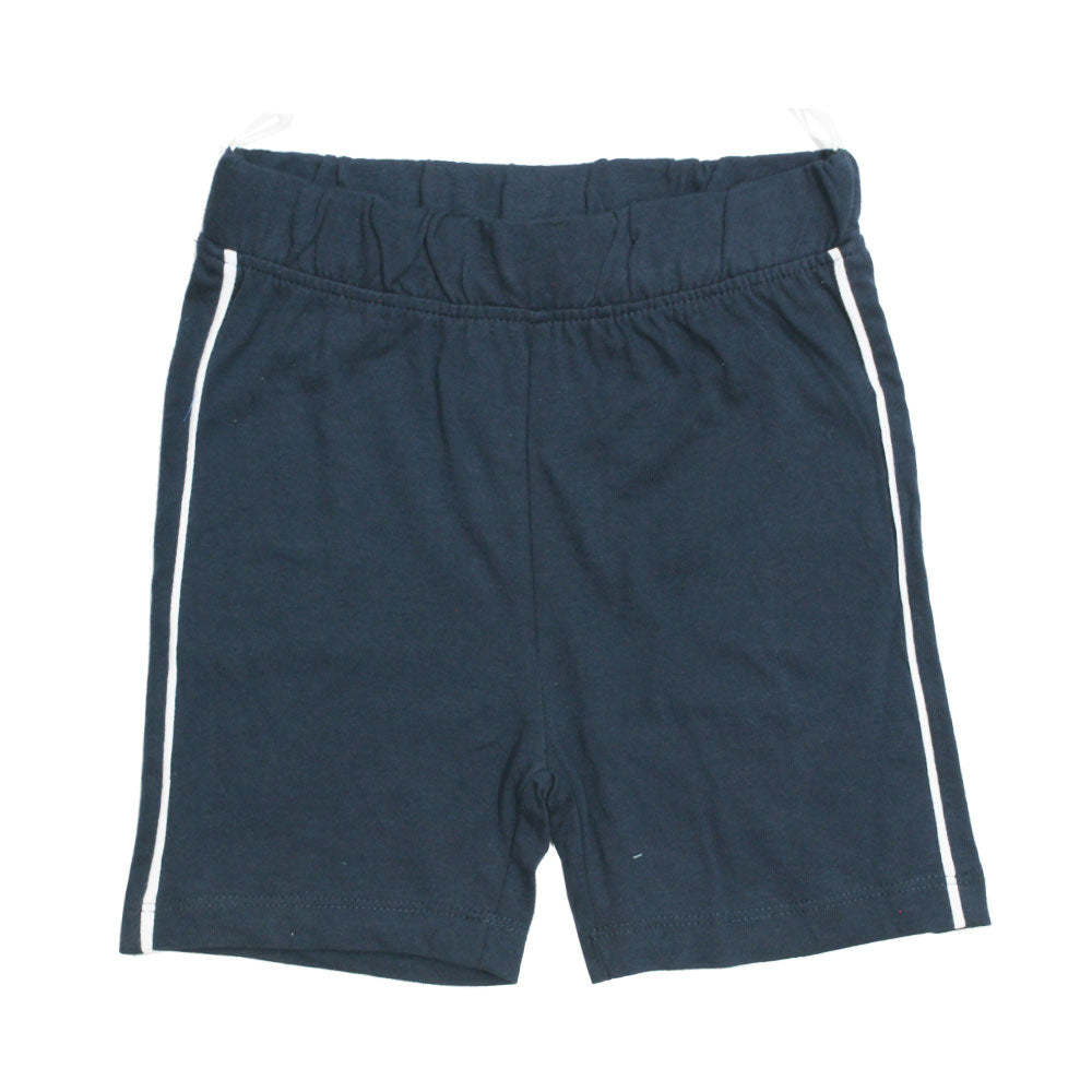 BABY CLUB White Piping Navy Blue Premium Cotton Basic Shorts