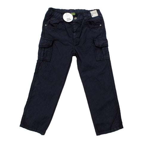 Pebble Stone Navy Blue Boys Special Treated Cotton Trouser