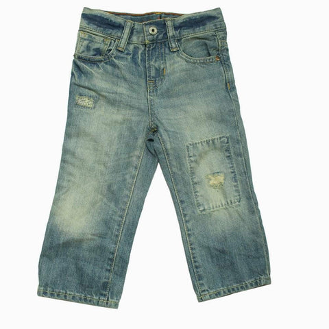 Baby GAP light blue front patch boys jeans