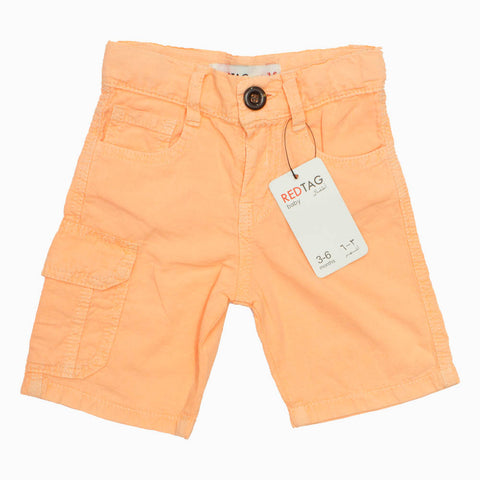 RED TAG Boys Light Orange Summer Cotton Short