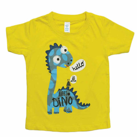 BABY CLUB Happy Dino yellow Boys Tshirt