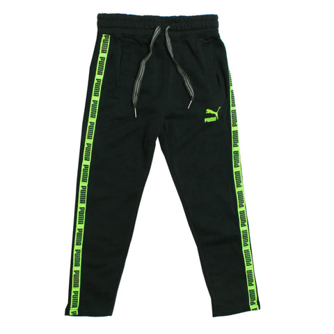 PUMA Side Green Straps Cotton Fleece Blueish Grey Trouser