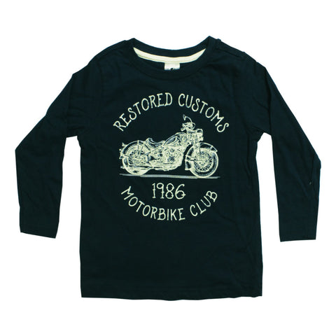 HnT Motorbike Club Premium Cotton Navy Blue Tshirt
