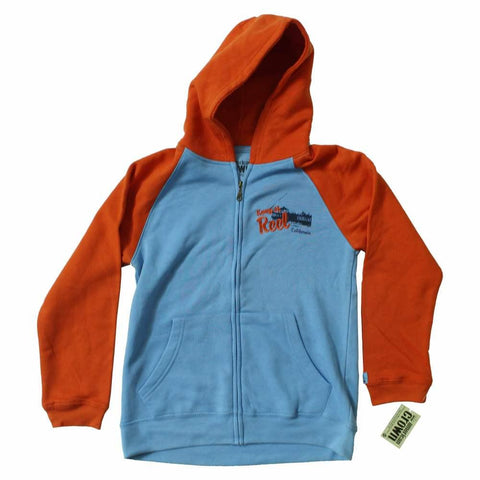 American Crown Orange Raglan Sleeves unisex Zipper Hoodie