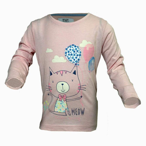 FnF Meow Pink girls Tshirt