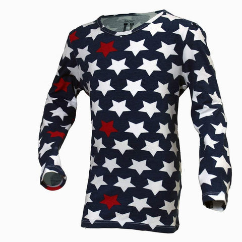 Blue star print girls tshirt