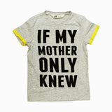HnM Yellow Sleeves If my Mother Knew Premium Cotton Boys Tshirt
