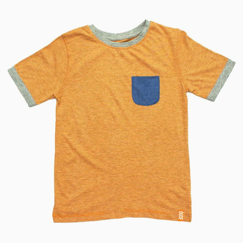 MotherCare Orange Stripes Ultra Soft Cotton Boys Tshirt