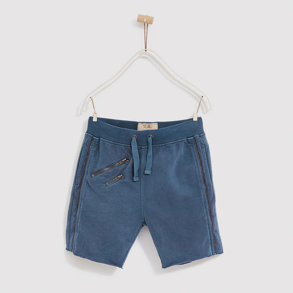 ZARA Boys Front Zip Blue Boys Cotton Stylish Short
