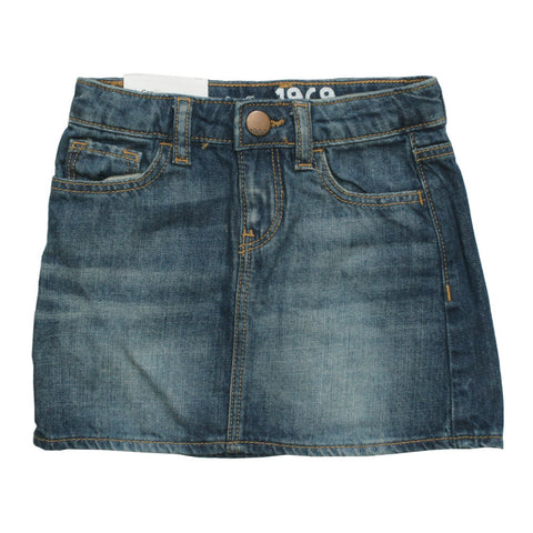 BABY GAP Basic Sand Washed Denim Blue Skirt