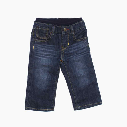 BABY GAP Ribbed Waist Boys Blue Winter Denim Jeans
