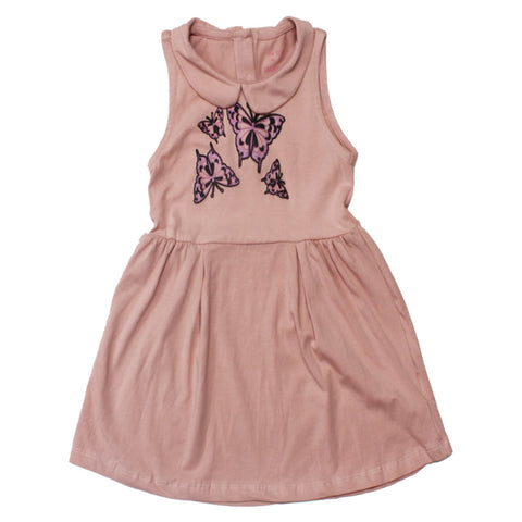 GEE JAY Butterfly Print Baby Pink Girls Dress