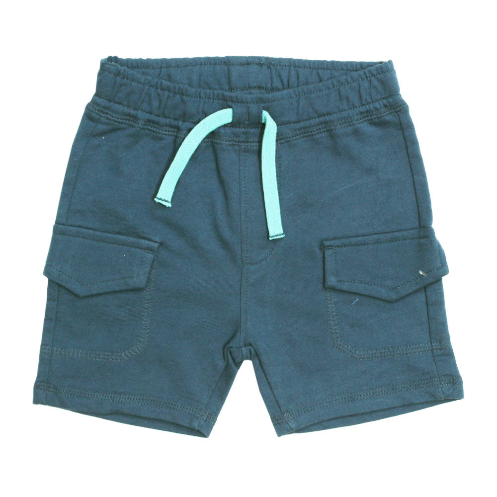BABY CLUB  Cargo Pockets Premium Cotton Blue Shorts