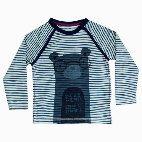 Bear hugs Boys navy blue T-shirt