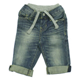Baby GAP Boys Grey Inner Ribbed Elastic Waist band Denim Jeans