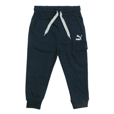 PUMA Blue Side Pocket Cotton Terry Trouser