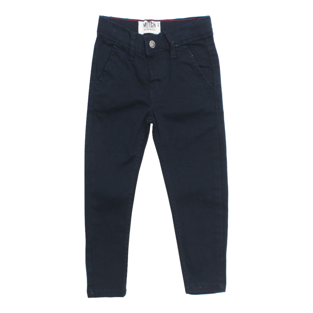 MITCH Blue Boys Cotton Pant