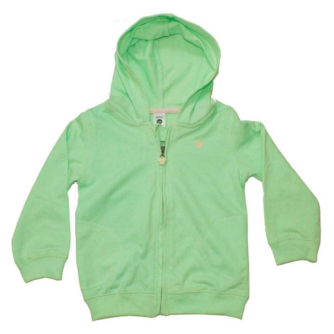 URB Butterfly Glitter print Light Green French Terry Hoodie
