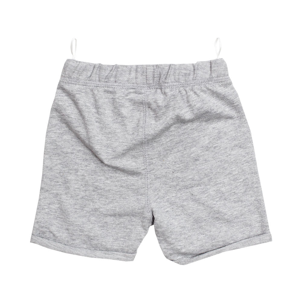 BABY CLUB Blue Draw String Heather Grey Premium Cotton Shorts
