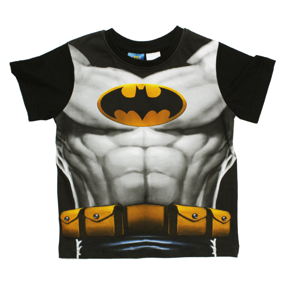 BATMAN Chest Print Premium Cotton Black Boys 2 Piece Set
