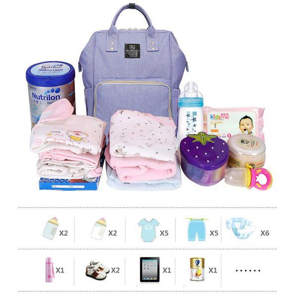 FengDa Baby Diaper Purple Backpack