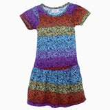 Next stripes multi colour girls dress