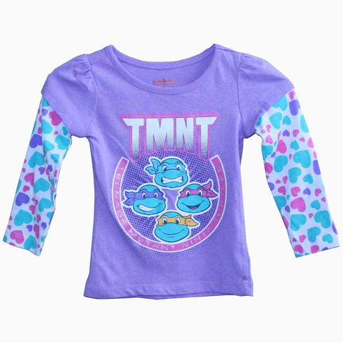 TMNT purple girls full sleeve tshirt