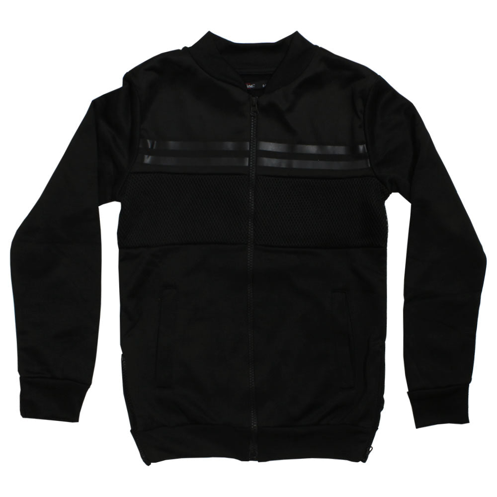 INC Side Zip Black Boys Polyester Jacket