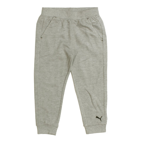 PUMA Heather Grey Bottom Logo Embroidered Cotton mix  Trouser