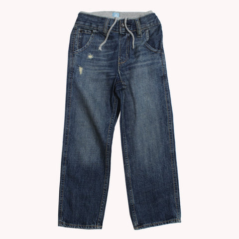 BABY GAP Waistband Blue Ripped Boys Denim Jeans