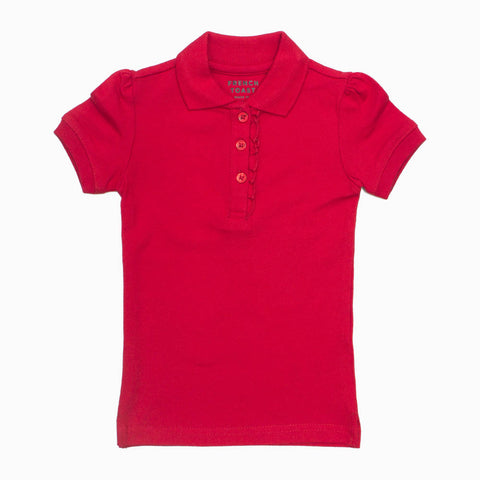 French Toast Premium Poly Cotton Jersey Girls Red Polo
