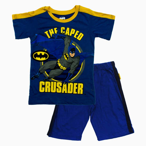 BATMAN Caped Crusader Blue Boys 2 Piece Set