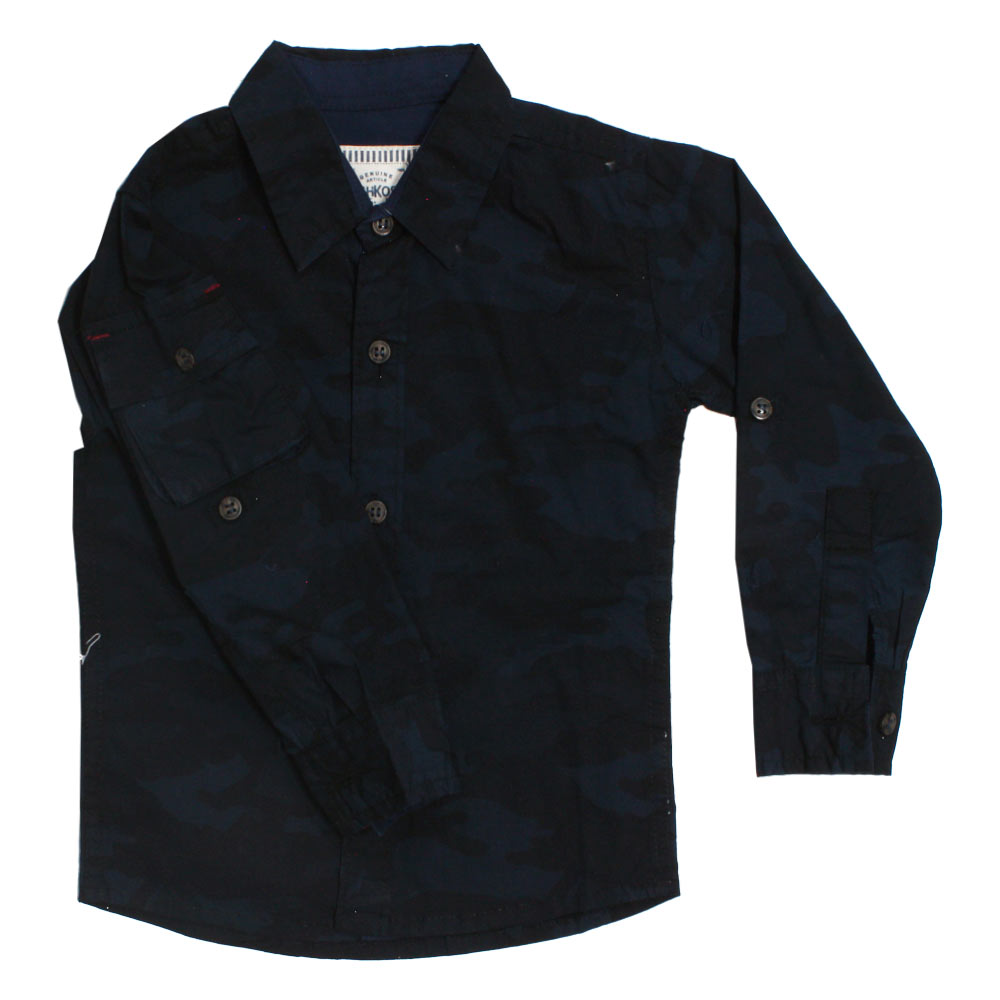 OSHKOSH Camouflage Blue Premium Cotton Casual Winter Shirt