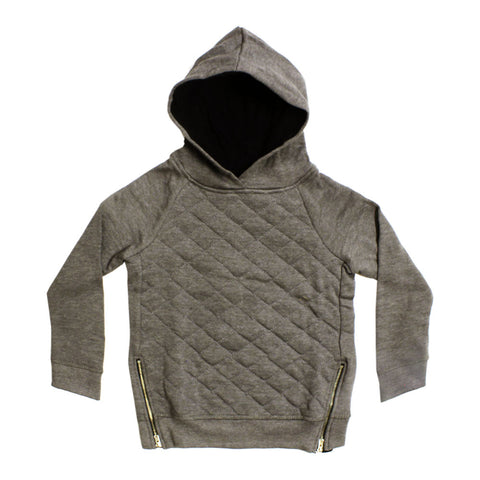KEBOKIDS Side Zip Grey Boys Cotton Hoodie
