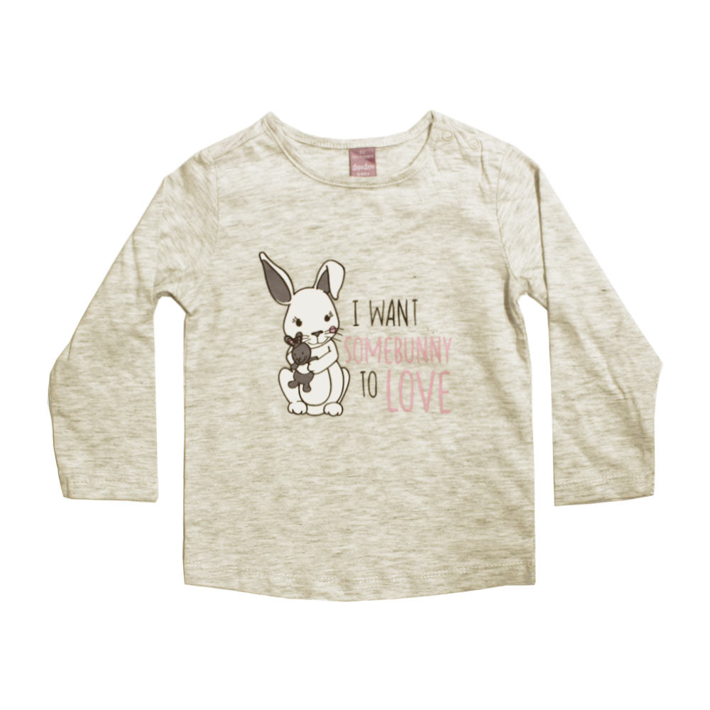DOPO DOPO Bunny Love Heather Grey Premium Cotton Tshirt