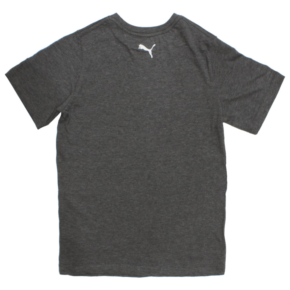 PUMA Color Print Dark Grey Boys Premium Cotton Tshirt