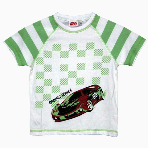 Star Wars Racing Series Green boys Tshirt