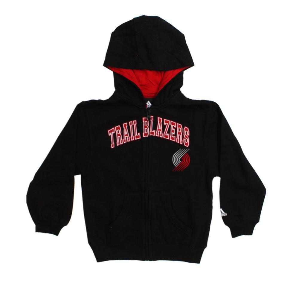 ADIDAS Trail Blazers Embroidery Black Boys Cotton Hoodies