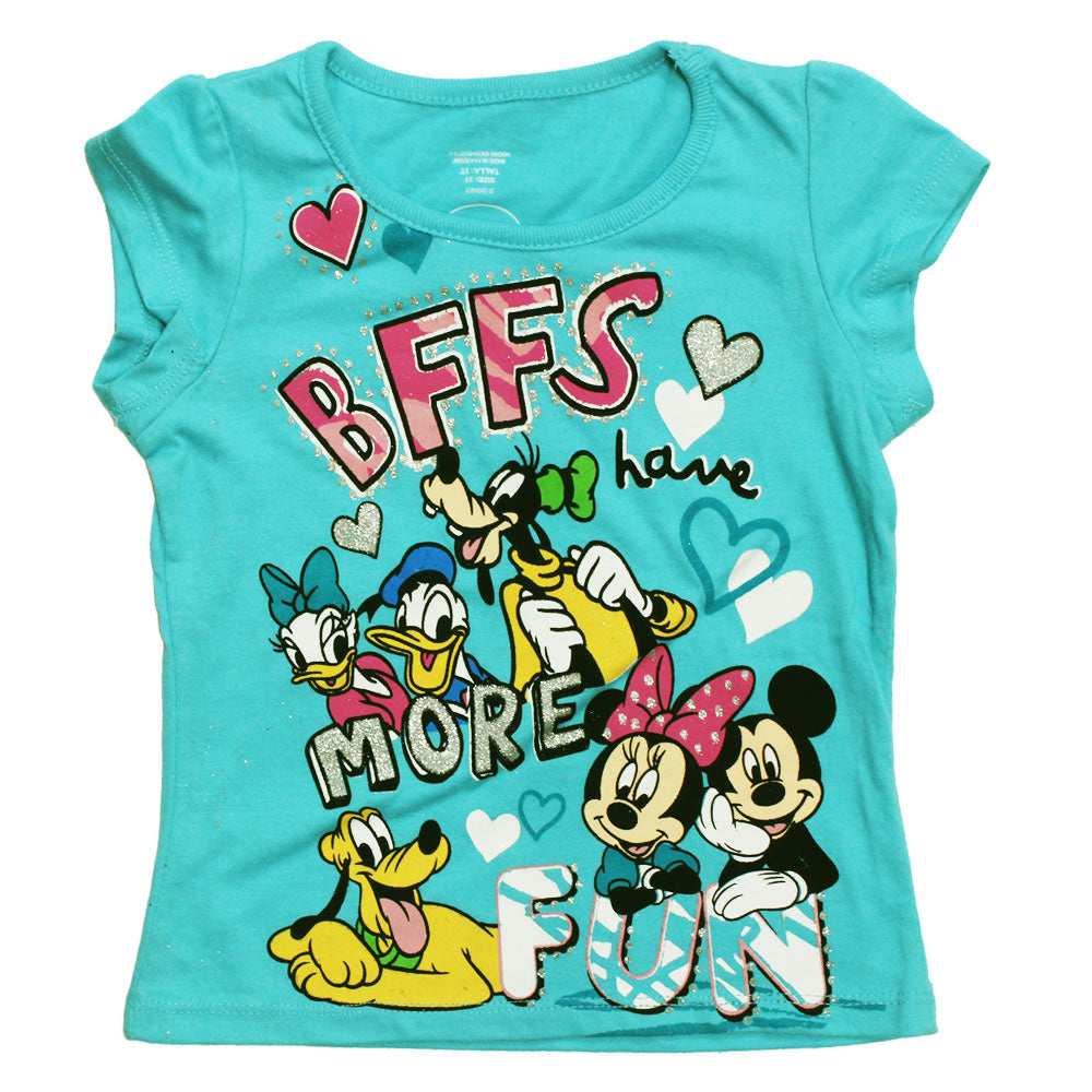 a5951e7db DISNEY BFFs Fun Glitter Print Cotton Girls Tshirt – Globalstock