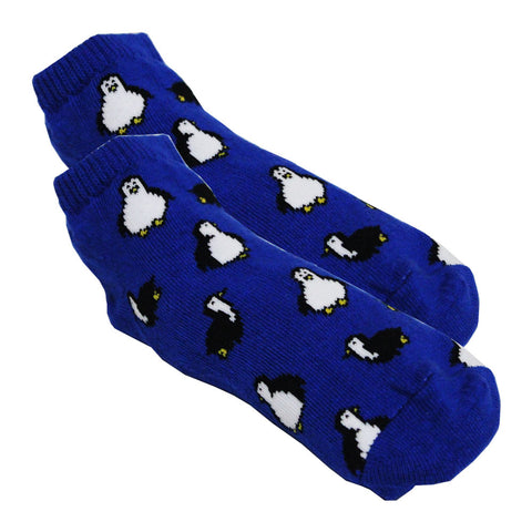 LOW RISE All over Penguin Royal Blue Cotton Socks