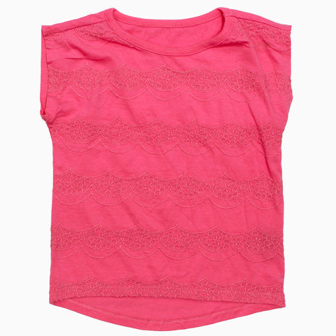 NEXT All Over Embroidery Girls Sleeveless Tshirt
