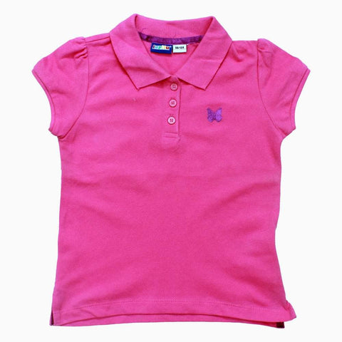 Lipilu PinkGirls Embroidered Chest Cotton Polo