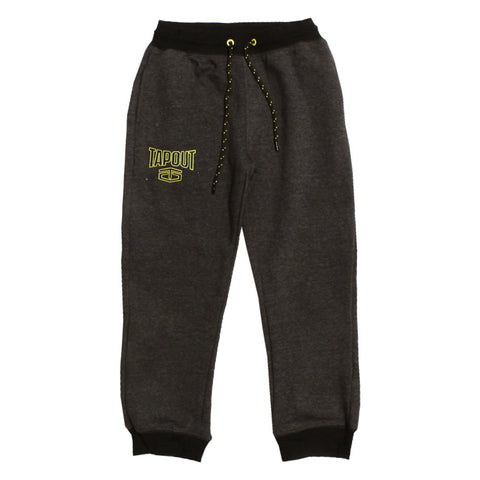 TAPOUT Grey Heavy Fleece Ribbed Boys Trouser