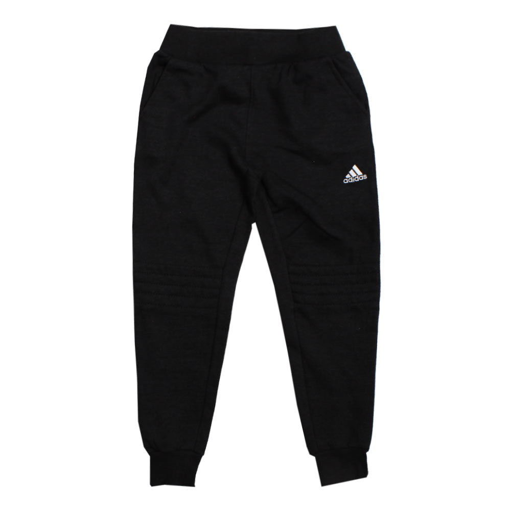 ADIDAS Knee Stitched Black Fleece Trouser