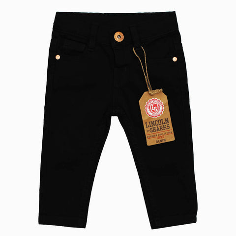 Lincoln Sharks Black Boys Cotton Pant