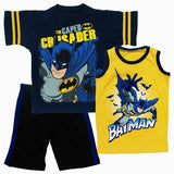 BatMan Caped Crusader Dark Blue 3 piece Set