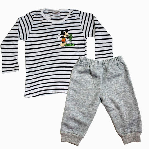 Disney Mickey mouse Stripes Set Grey Trouser
