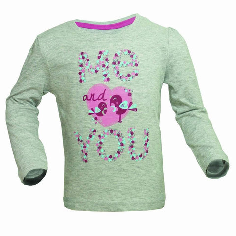 Young Dimensions ME and YOu girls fullsleeves grey tshirt