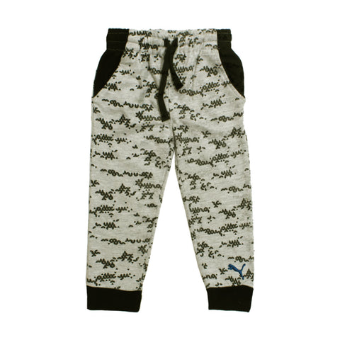 PUMA Grey Abstract Print Cotton mix  Trouser
