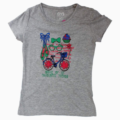 OVS My favourite Things Heather Grey Girls Tshirt
